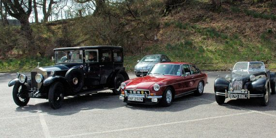 Some of the classic cars in Drumnadrochit during Drive It Day in 2013.