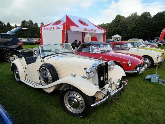 "A 1952 MG TD at the ""Gathering of the Clans"" in Doune."